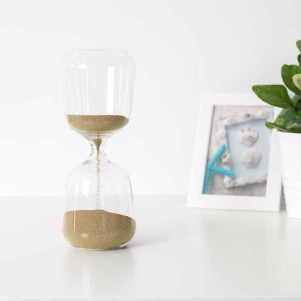 BENFRI Decorative hourglass, clear glass, 23 cm