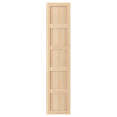 BERGSBO Door with hinges, white stained oak effect, 50x229 cm