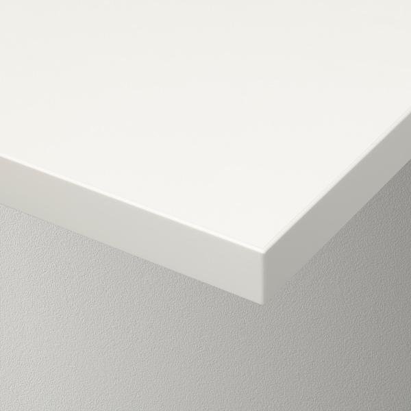 BERGSHULT / PERSHULT Wall shelf, white/white, 120x30 cm