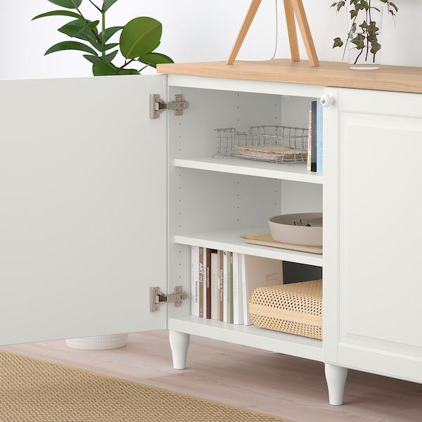BESTÅ Storage combination with doors, white/Smeviken/Kabbarp white, 180x42x76 cm