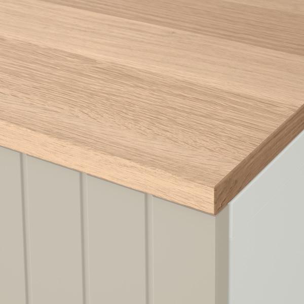 BESTÅ Storage combination with doors, white/Sutterviken/Kabbarp grey-beige, 120x42x76 cm