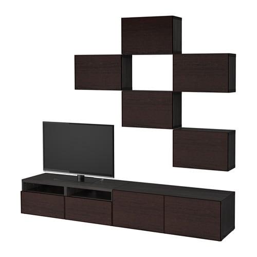 BESTÅ TV storage combination - black-brown/Inviken black ...