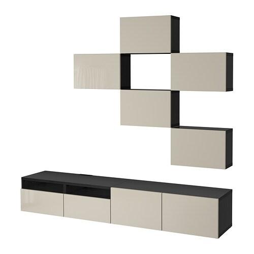 Bestå Tv Storage Combination Black Brownselsviken High Gloss