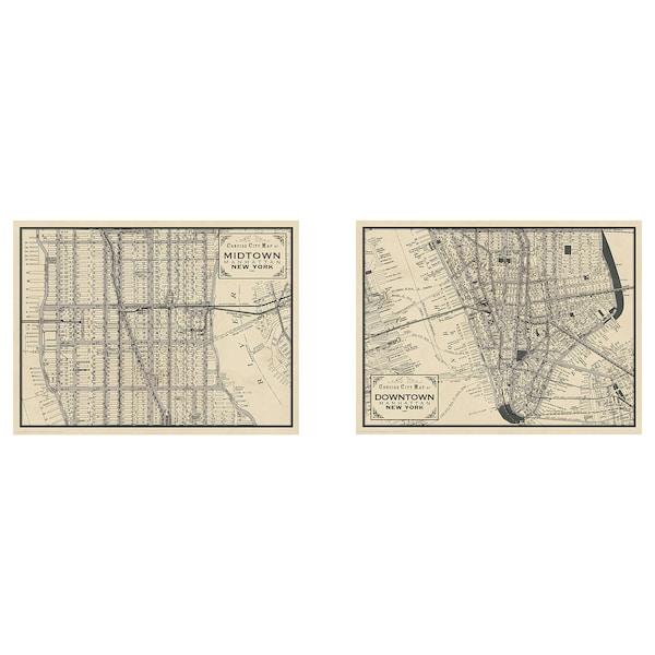BILD Poster, Manhattan maps, 40x30 cm