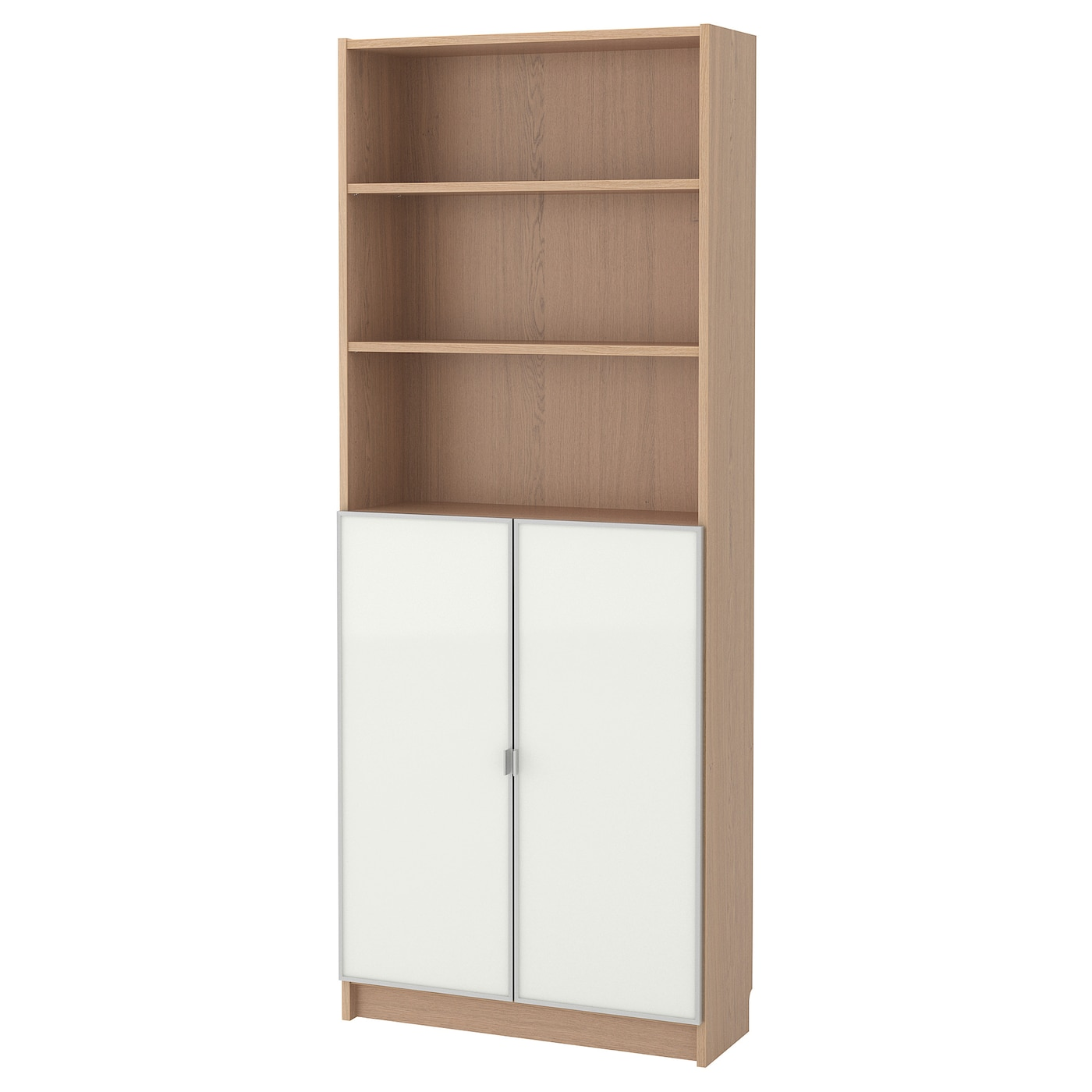Bookcase With Glass Doors Billy Morliden White Stained Oak Veneer Glass