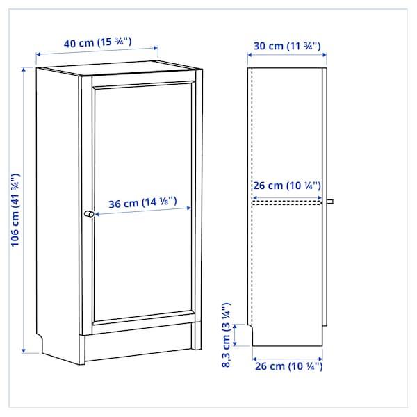 BILLY / OXBERG Bookcase with door, white, 40x30x106 cm