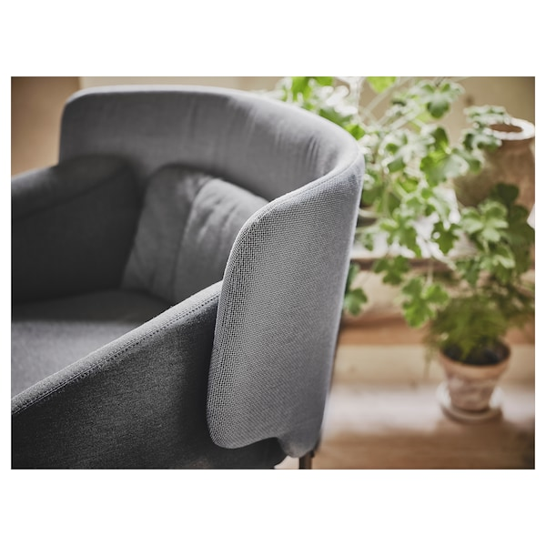 BINGSTA armchair Vissle dark grey/Kabusa dark grey 70 cm 58 cm 76 cm 33 cm 45 cm