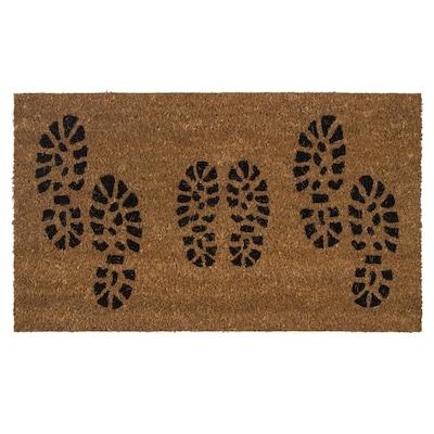 BJERGBY Door mat, black, 40x70 cm