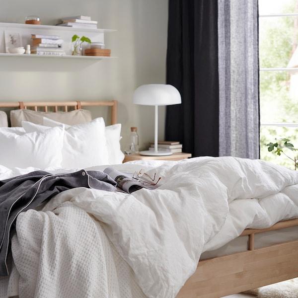 BJÖRKSNÄS bed frame birch 214 cm 160 cm 43 cm 55 cm 109 cm 25 cm 650 g 710 g 200 cm 140 cm