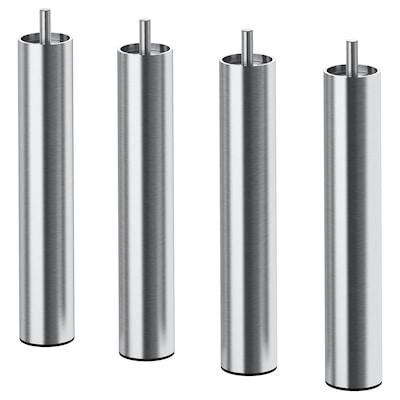 BJORLI Leg, stainless steel, 20 cm