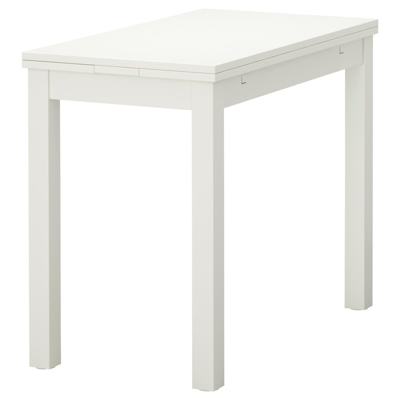 Bjursta Extendable Table White 50 70 90x90 Cm Ikea