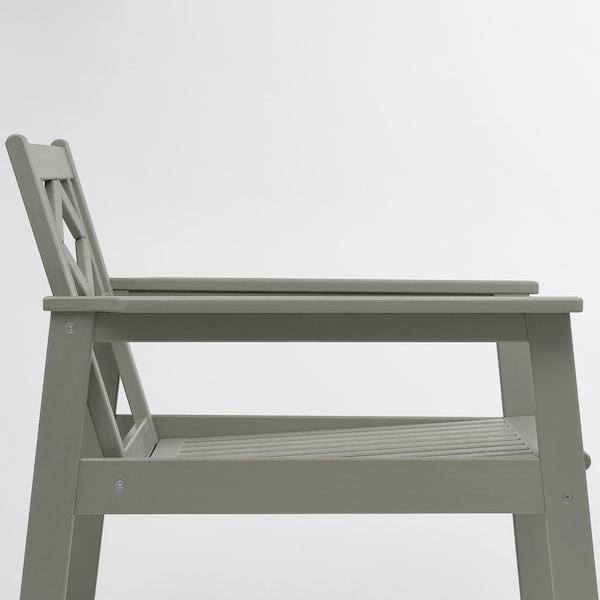 BONDHOLMEN Armchair, outdoor, grey stained/Frösön/Duvholmen red
