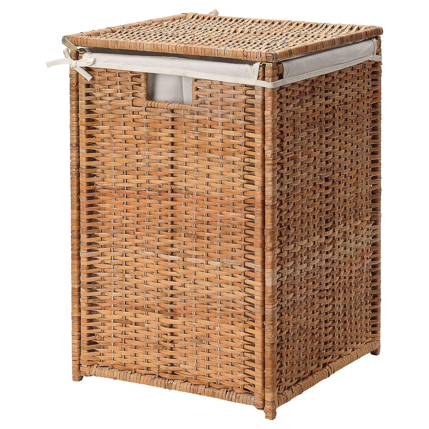Branäs Laundry Basket With Lining Rattan Width 41 Cm Ikea