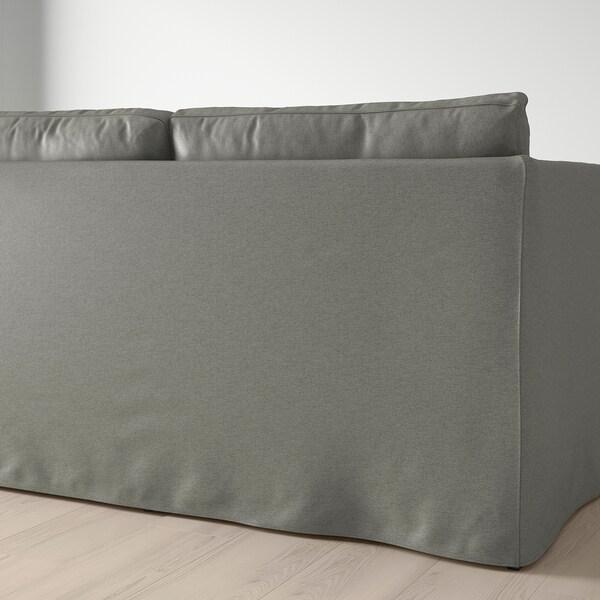 BRÅTHULT 3-seat sofa, Borred grey-green