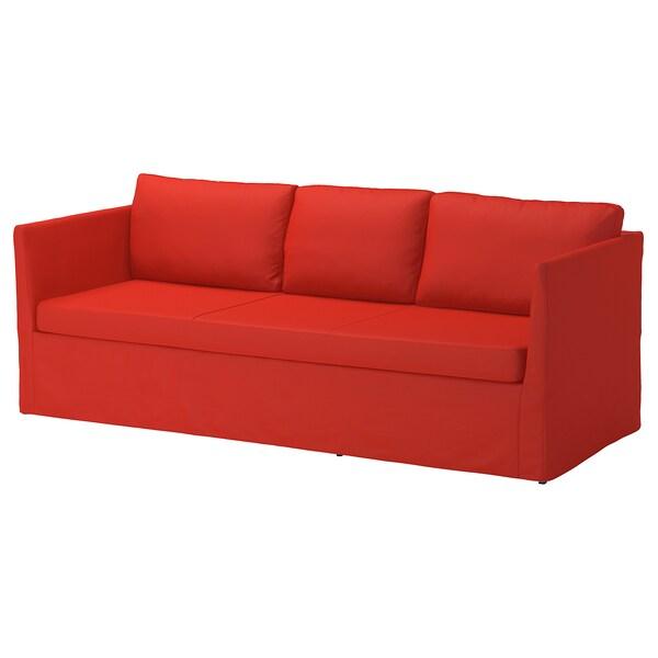 BRÅTHULT cover for 3-seat sofa Vissle red-orange