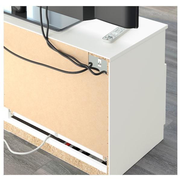 BRIMNES TV storage combination/glass doors, white, 320x41x190 cm