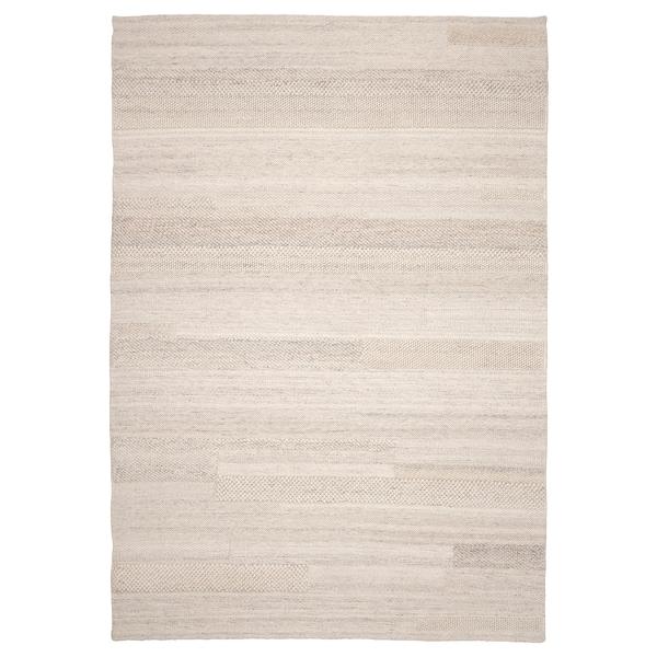 BRÖNDEN Rug, low pile, handmade beige, 170x240 cm