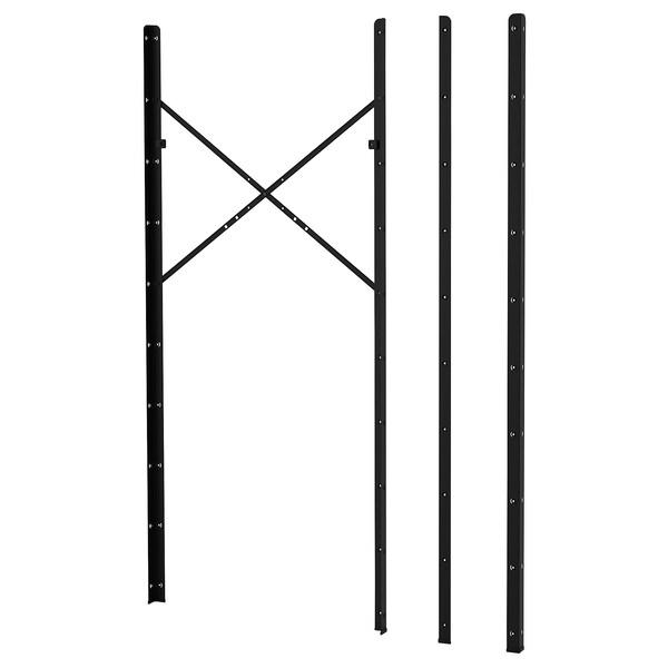 BROR post black 4 cm 190 cm 4 pack