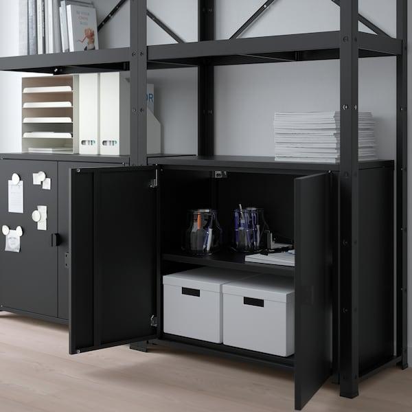 BROR shelving unit with cabinets black 170 cm 40 cm 190 cm