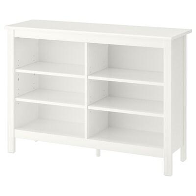 BRUSALI TV bench, white, 120x36x85 cm