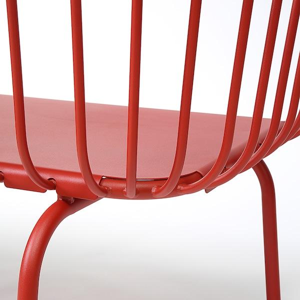 BRUSEN 3-seat sofa, outdoor red 146 cm 64 cm 75 cm 120 cm 52 cm 42 cm