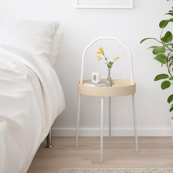 BURVIK Side table, white, 38 cm
