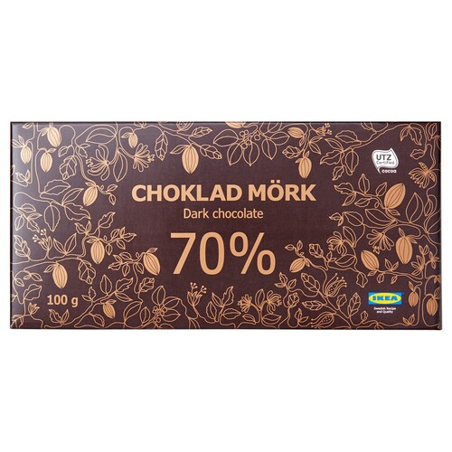 IKEA CHOKLAD MÖRK 70% Dark chocolate 70%