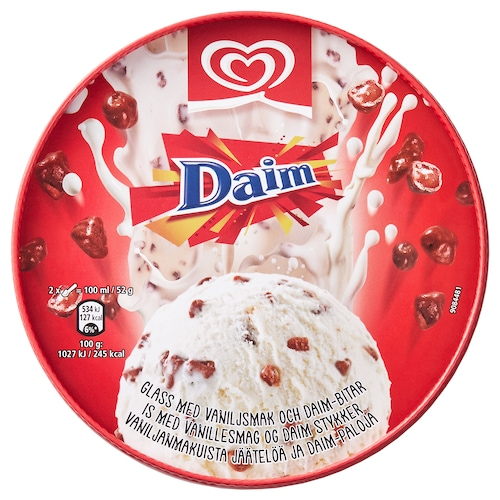 IKEA DAIM Vanilla ice cream w daim pieces