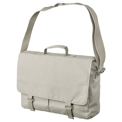 DRÖMSÄCK Messenger bag, beige, 14 l