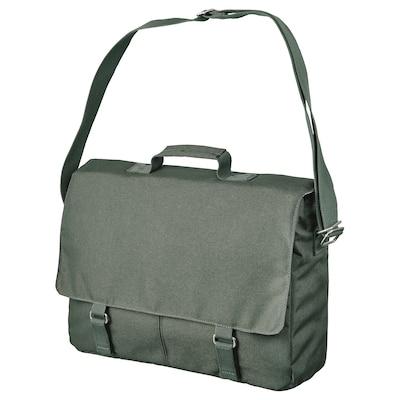 DRÖMSÄCK Messenger bag, olive-green, 14 l