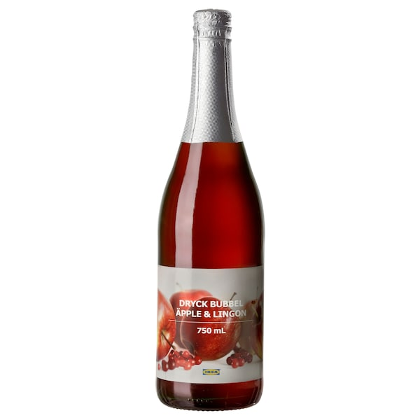 DRYCK BUBBEL ÄPPLE & LINGON sparkling apple & lingonberry drink 750 ml
