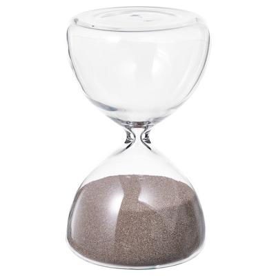 EFTERTÄNKA Decorative hourglass, clear glass/sand, 10 cm