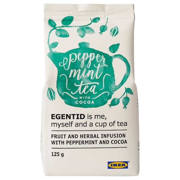 EGENTID Fruit and herbal infusion, peppermint/cocoa/UTZ certified, 125 g