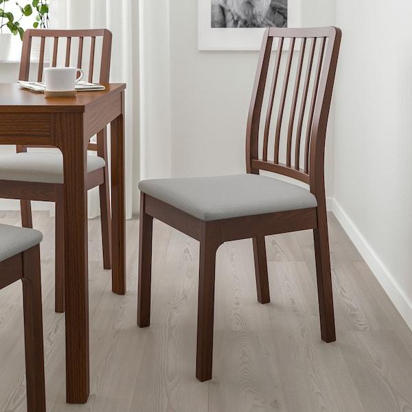 EKEDALEN Chair, brown/Orrsta light grey