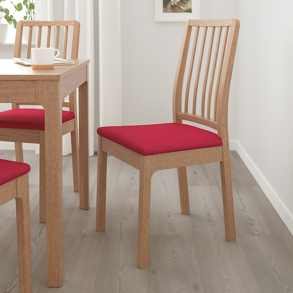 EKEDALEN Chair, oak/Orrsta red