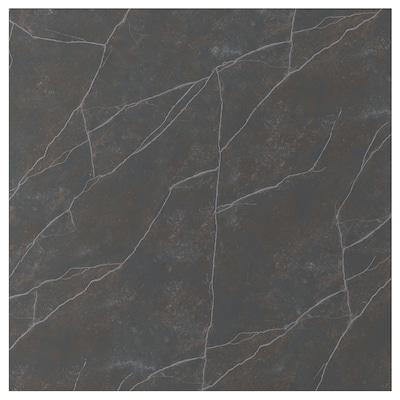 EKEKULL Custom made wall panel, matt black/brown/marble effect ceramic, 1 m²x1.2 cm