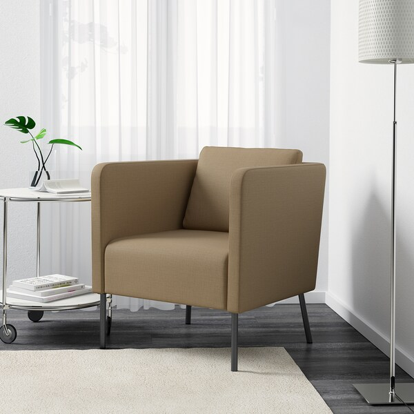 EKERÖ armchair Skiftebo beige 70 cm 73 cm 75 cm 57 cm 46 cm 43 cm