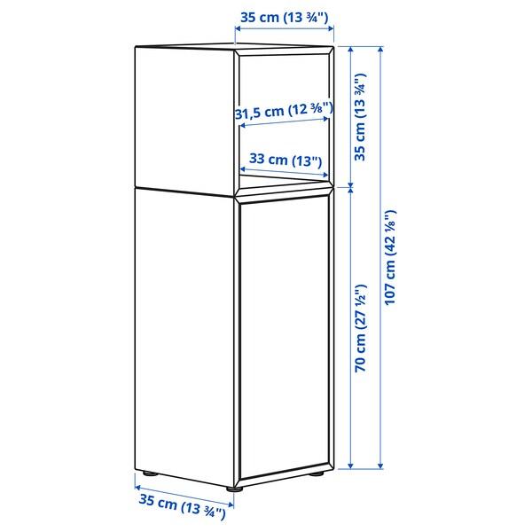 EKET Cabinet combination with feet, dark grey, 35x35x107 cm