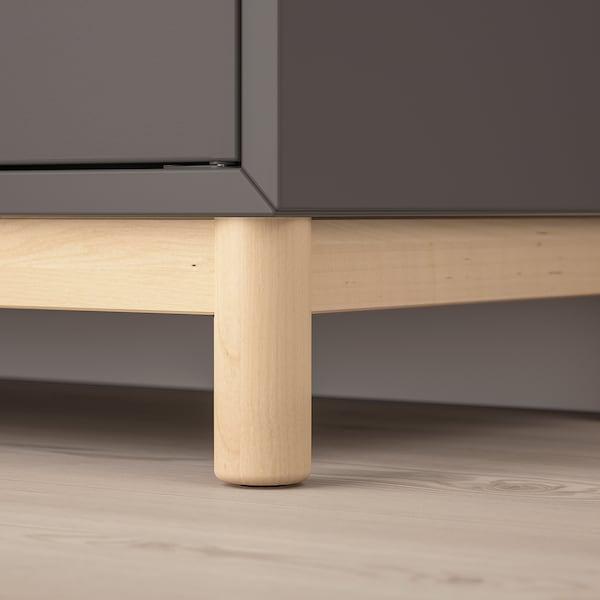 EKET cabinet combination with legs dark grey 70 cm 35 cm 80 cm
