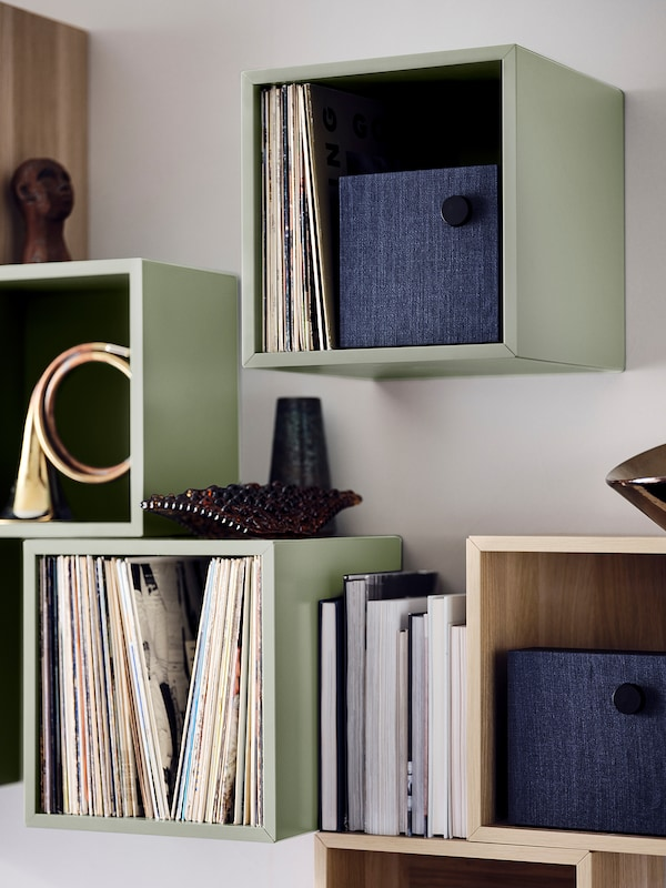 EKET Cabinet, light green, 35x35x35 cm