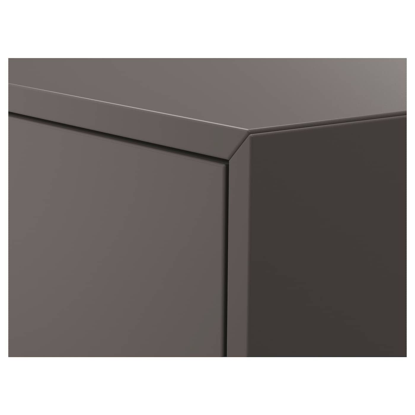 EKET Wall-mounted cabinet combination, dark grey, 80x35x210 cm