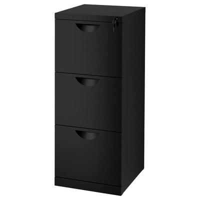 ERIK File cabinet, black, 41x104 cm