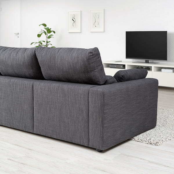 ESKILSTUNA 3-seat sofa, Hillared anthracite