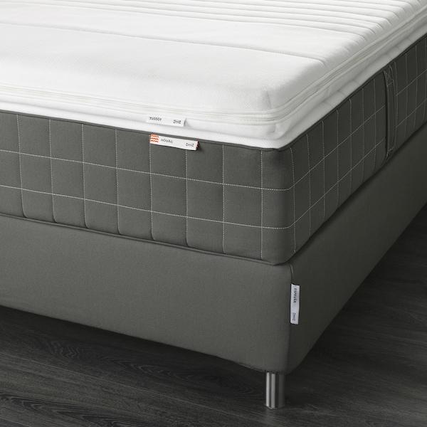 ESPEVÄR Divan bed, Hövåg extra firm/Tussöy dark grey, 160x200 cm