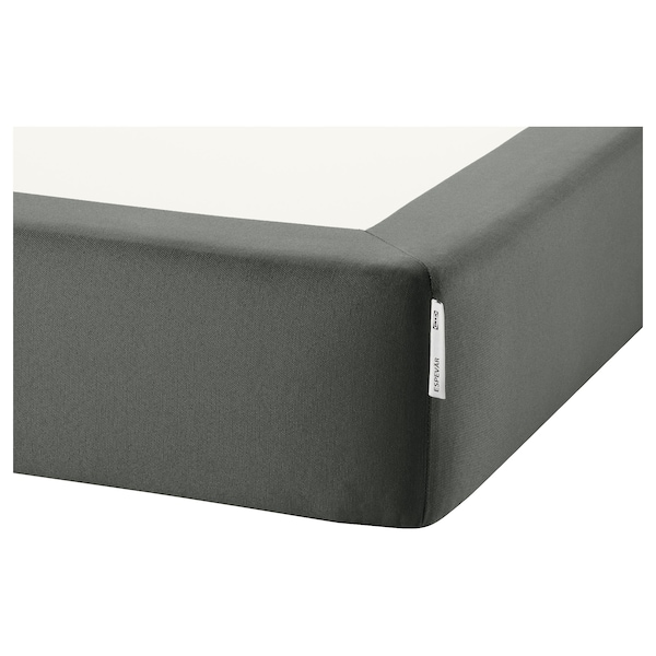 ESPEVÄR slatted mattress base dark grey 200 cm 90 cm 20 cm