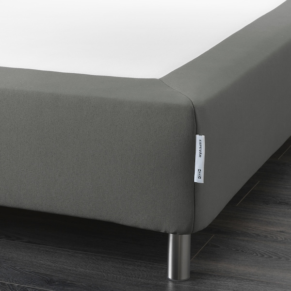 ESPEVÄR sprung mattress base with legs dark grey 200 cm 180 cm 20 cm