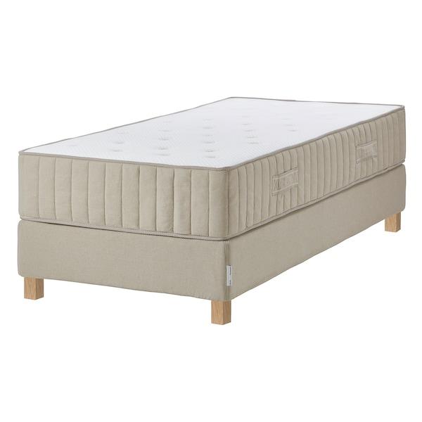 ESPEVÄR/VATNESTRÖM Divan bed, extra firm/natural, 90x200 cm
