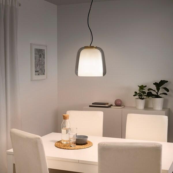 EVEDAL pendant lamp grey 22 W 26 cm 28 cm 1.6 m 1.3 m