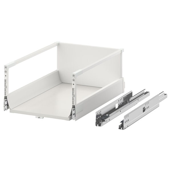 EXCEPTIONELL Drawer, high with push to open, white, 40x60 cm
