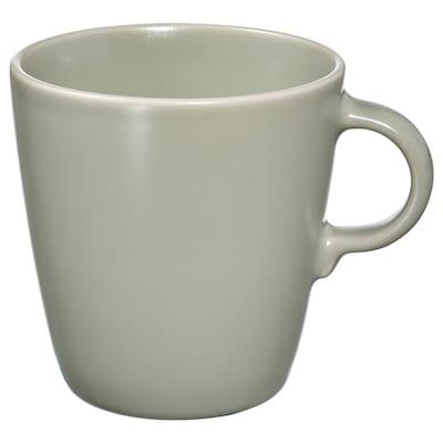 FÄRGKLAR Mug, matt green, 37 cl